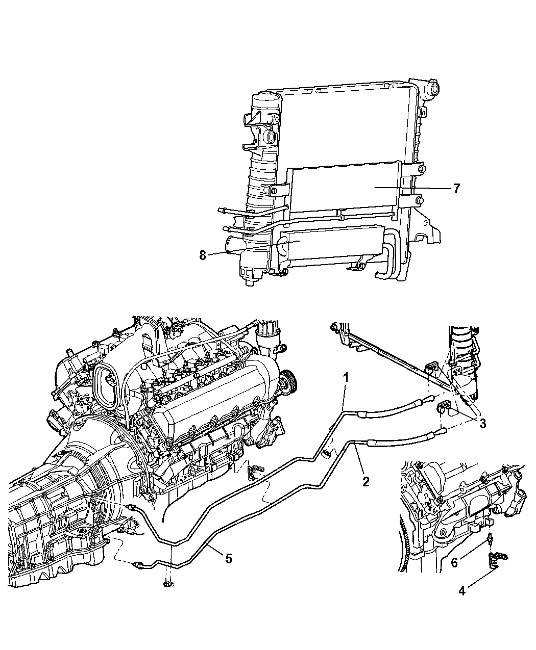 52028866ac Genuine Dodge Tube Oil Cooler