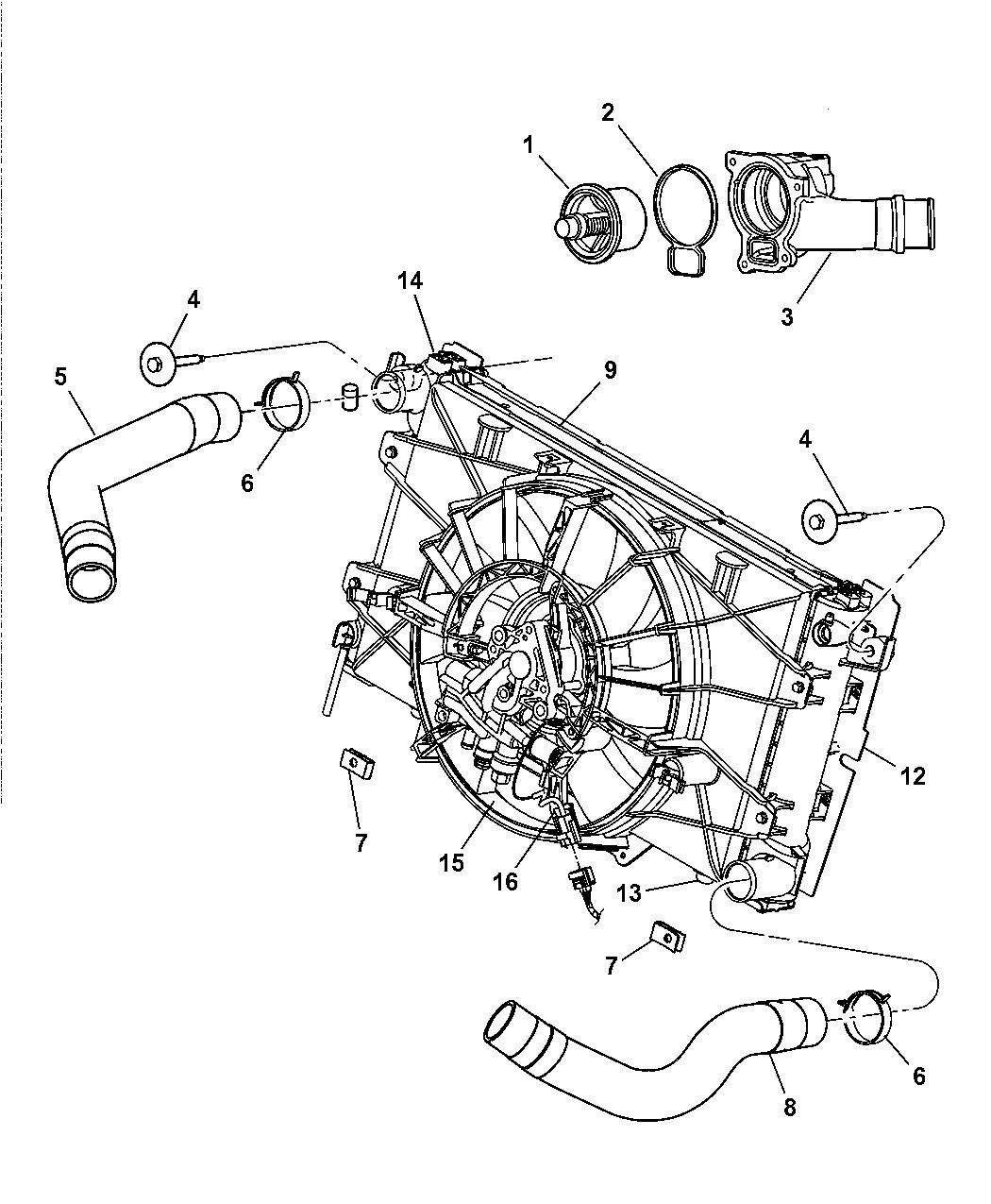 5290099ab Genuine Dodge Module Radiator Cooling