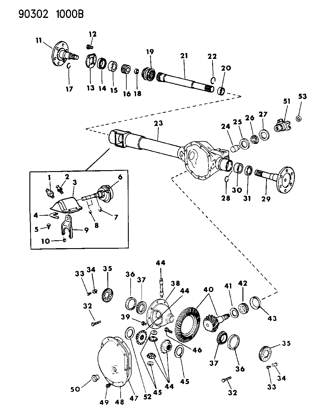 Dodge Dakota Front Bearing Diagram