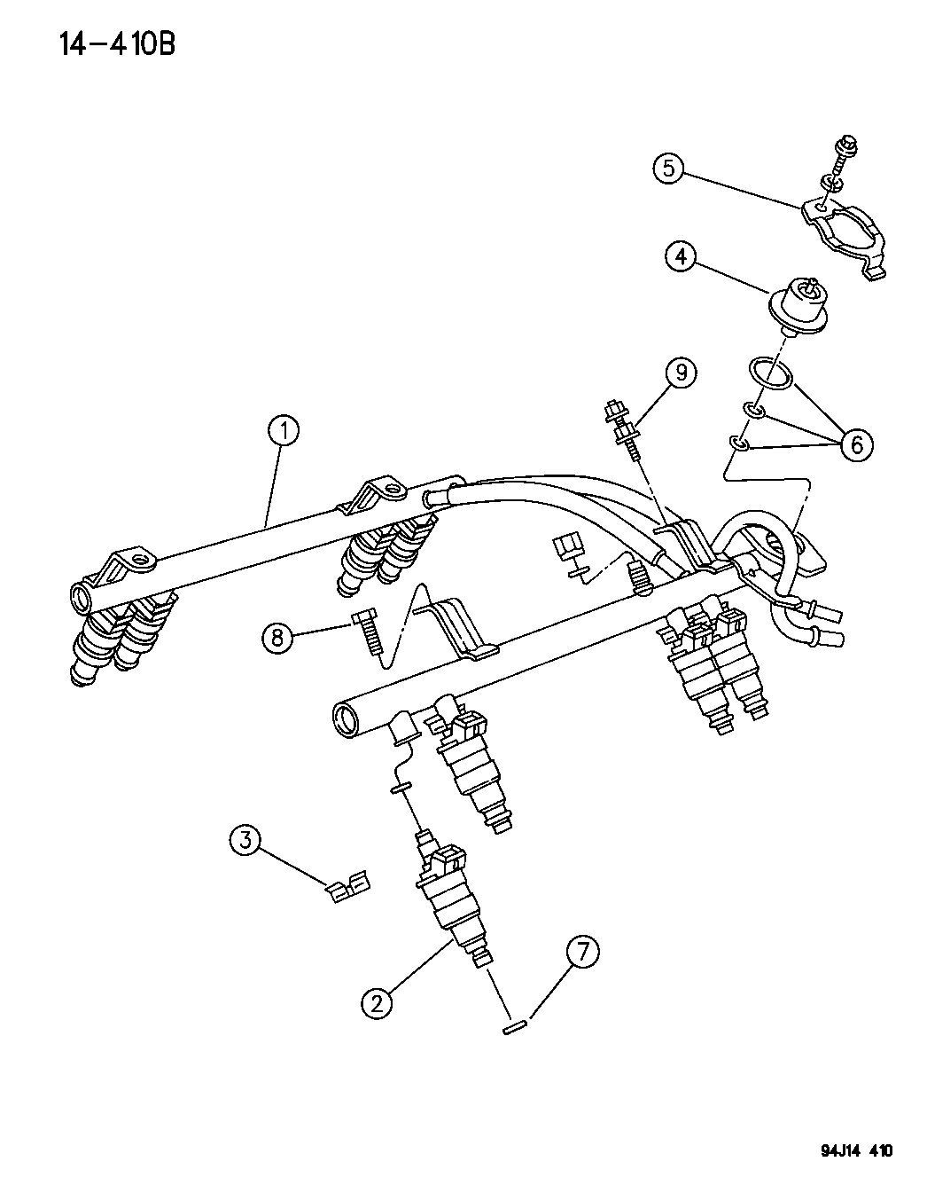 1996 Jeep Cherokee Fuel Injection System