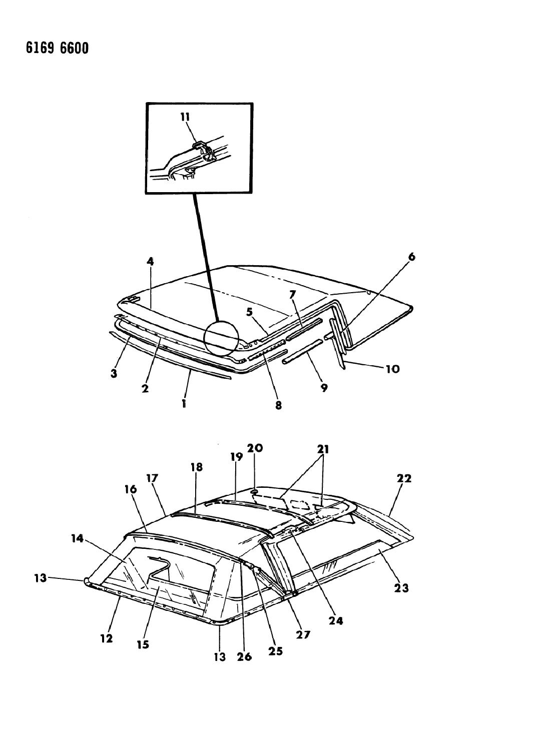 1986 chrysler lebaron base convertible folding top - thumbnail 1