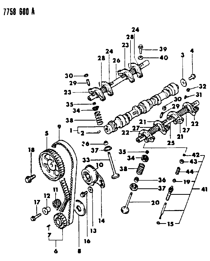 1987 Chrysler Conquest Camshaft Valves Mopar Parts Giant Wiring Diagram Thumbnail 1