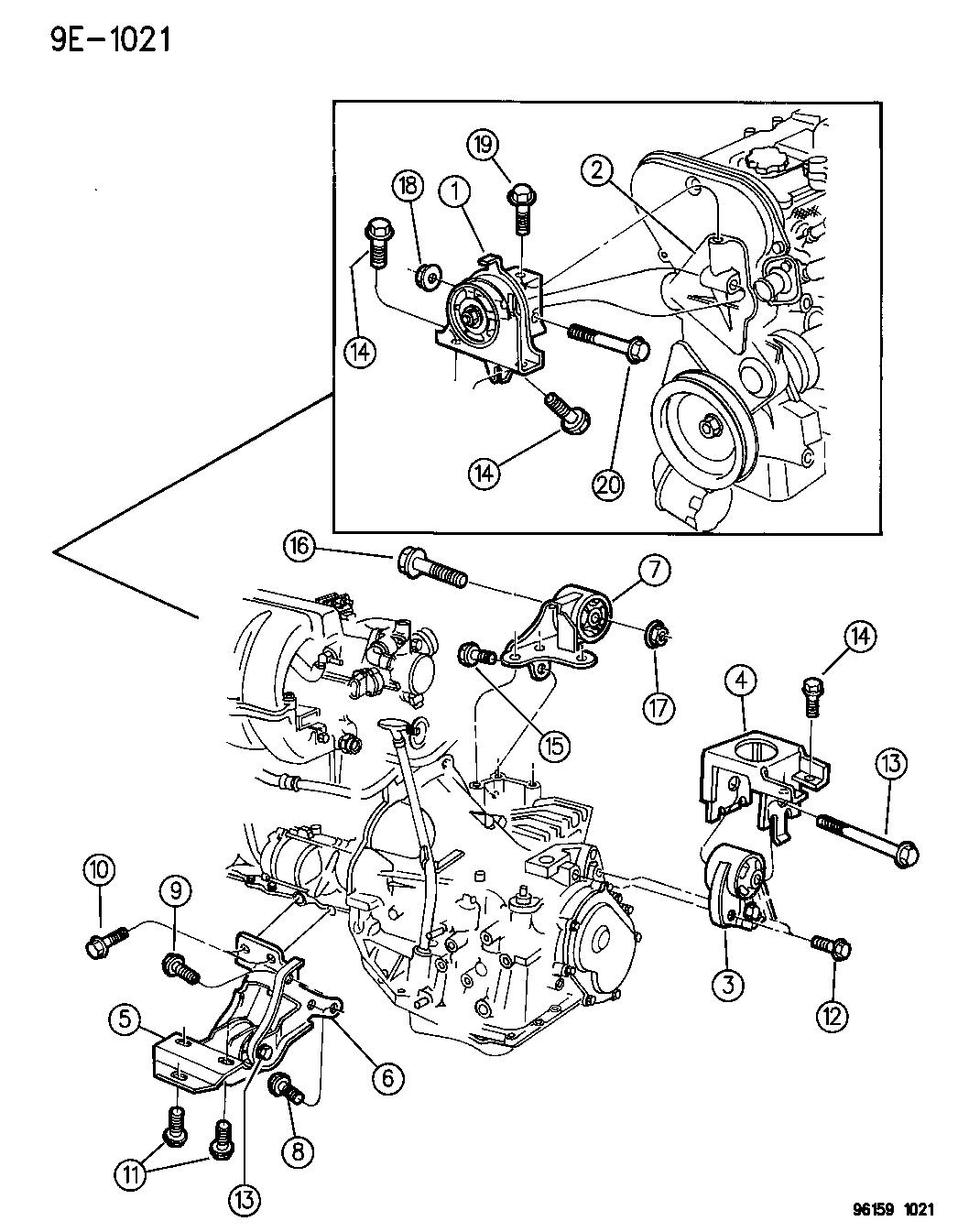1996 Dodge Caravan Engine Mounts Mopar Parts Giant Diagram Thumbnail 2