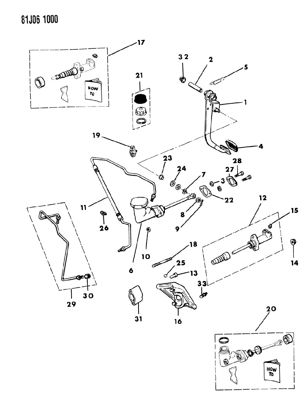 1986 jeep cherokee pedal - clutch linkage