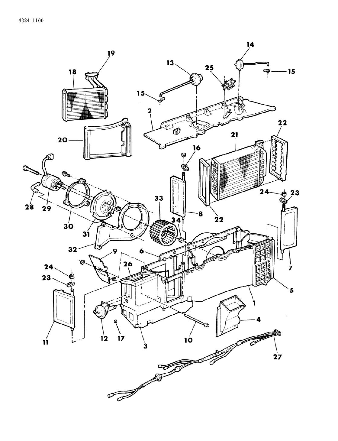 1985 Dodge D150 Air Conditioner Amp Heater Unit Mopar
