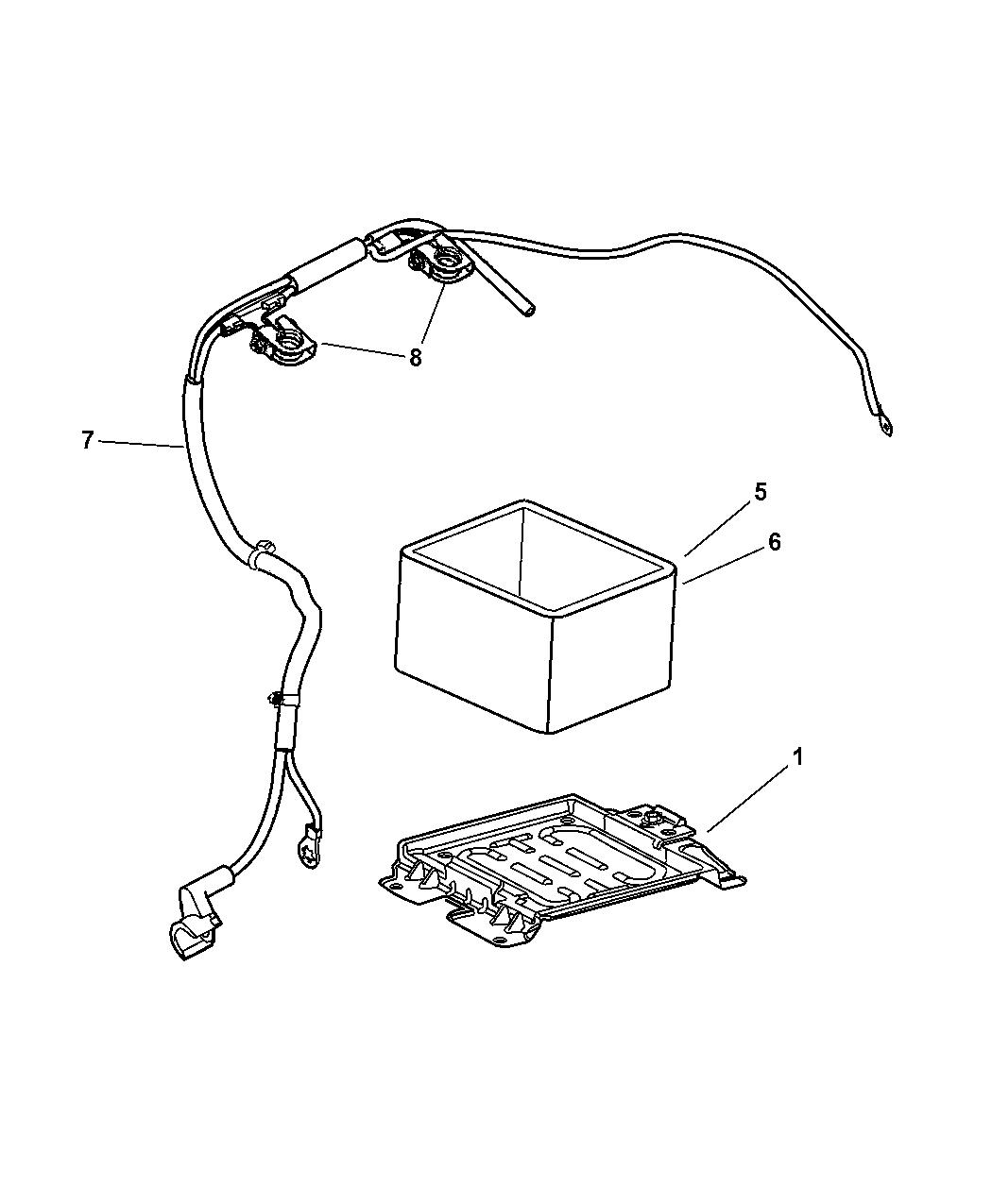 5084446aa genuine mopar wiring battery. Black Bedroom Furniture Sets. Home Design Ideas