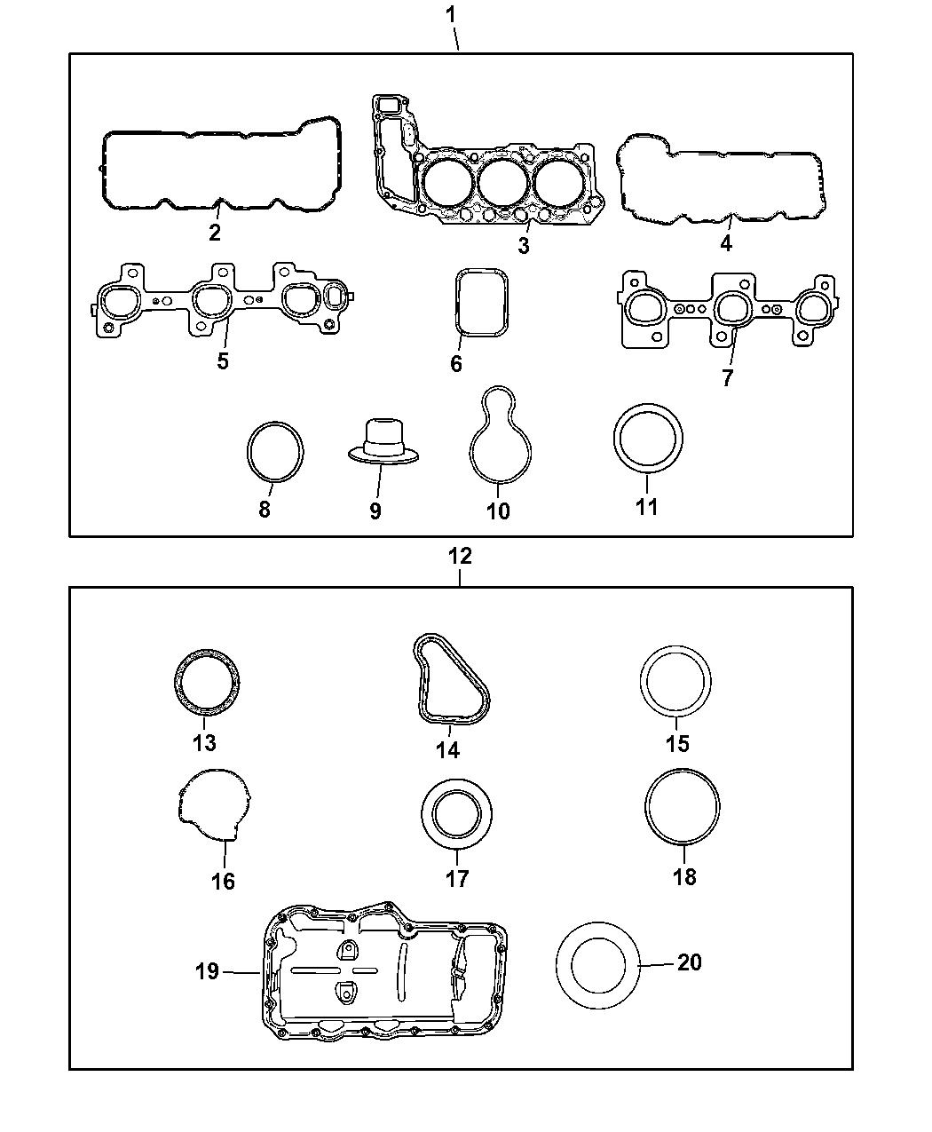 CHRYSLER OEM Throttle Body-Gasket 4666113AA