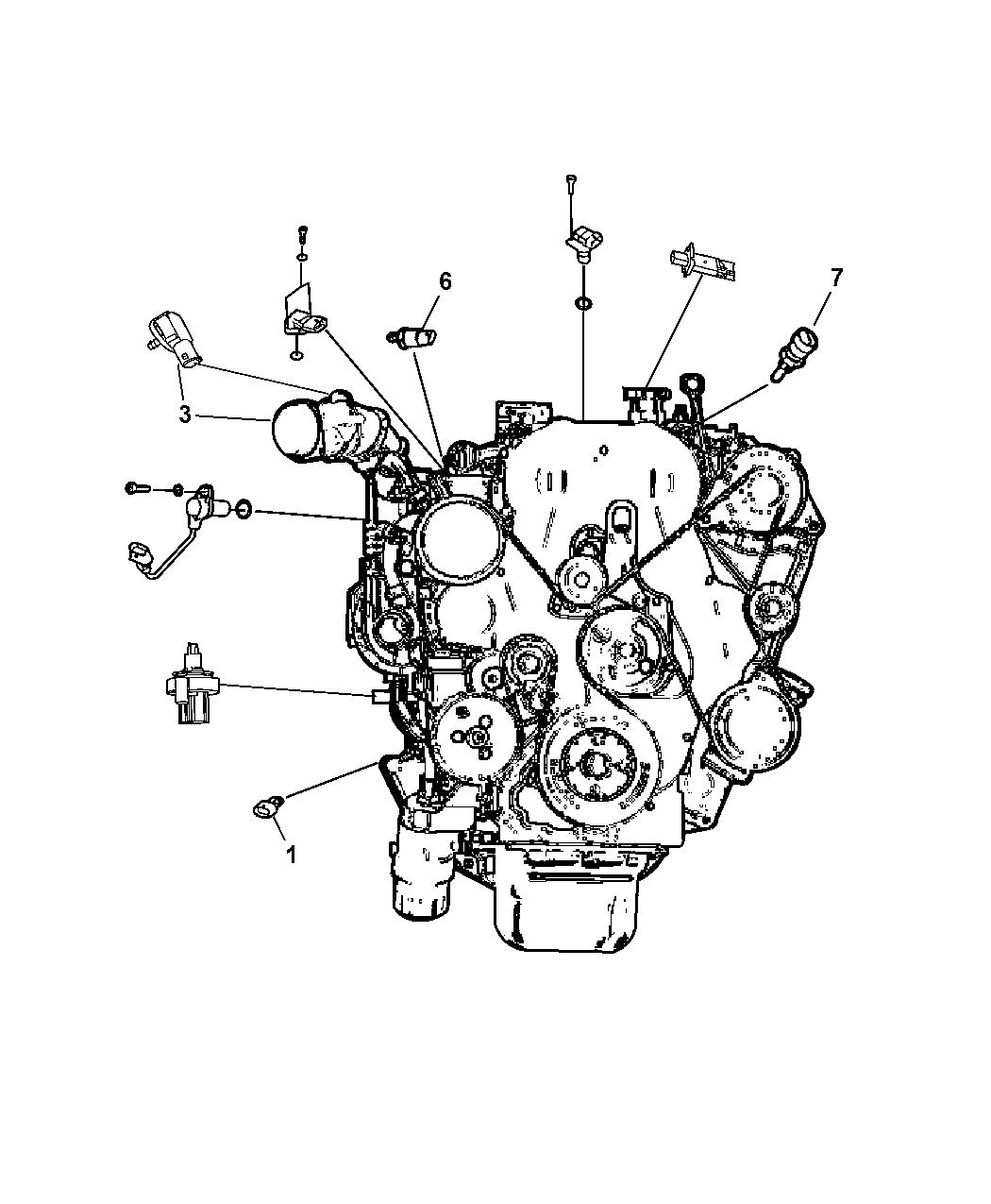 2007 Dodge Caliber Sensors Engine Mopar Parts Giant Wiring Schematic Starting Thumbnail 2