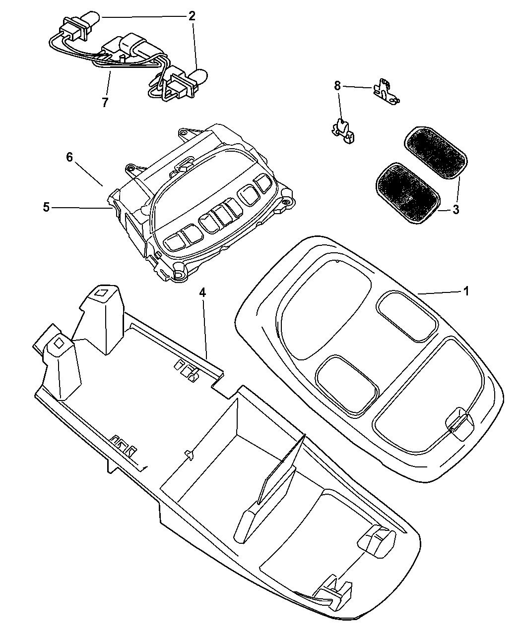 Genuine Dodge CONSOLE-OVERHEAD CONSOLE