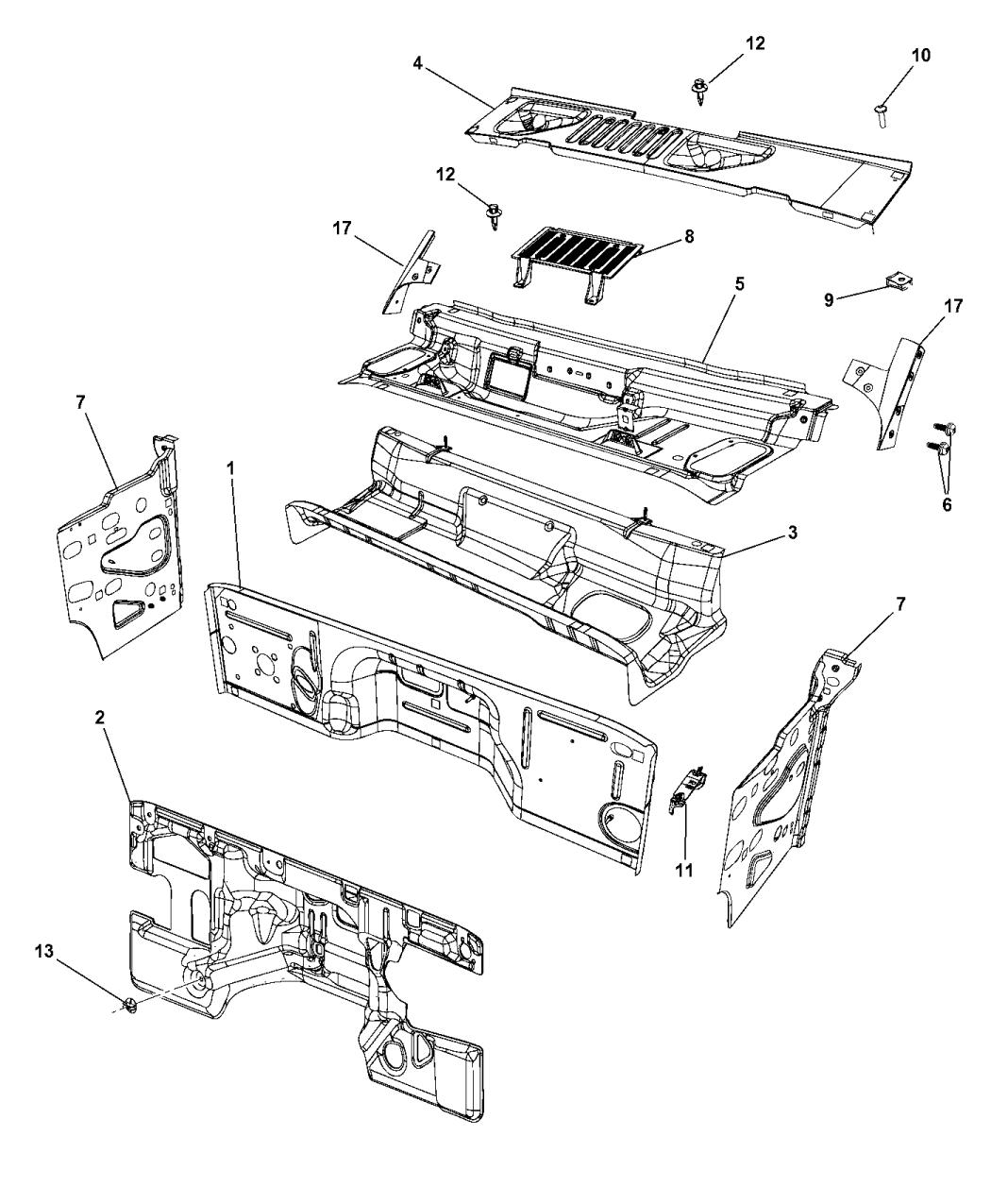 2015 jeep wrangler cowl  dash panel  u0026 related parts