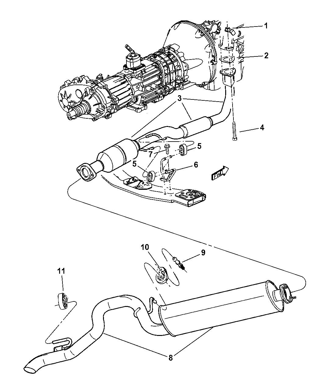 52101120ad Genuine Jeep Muffler Exhaust