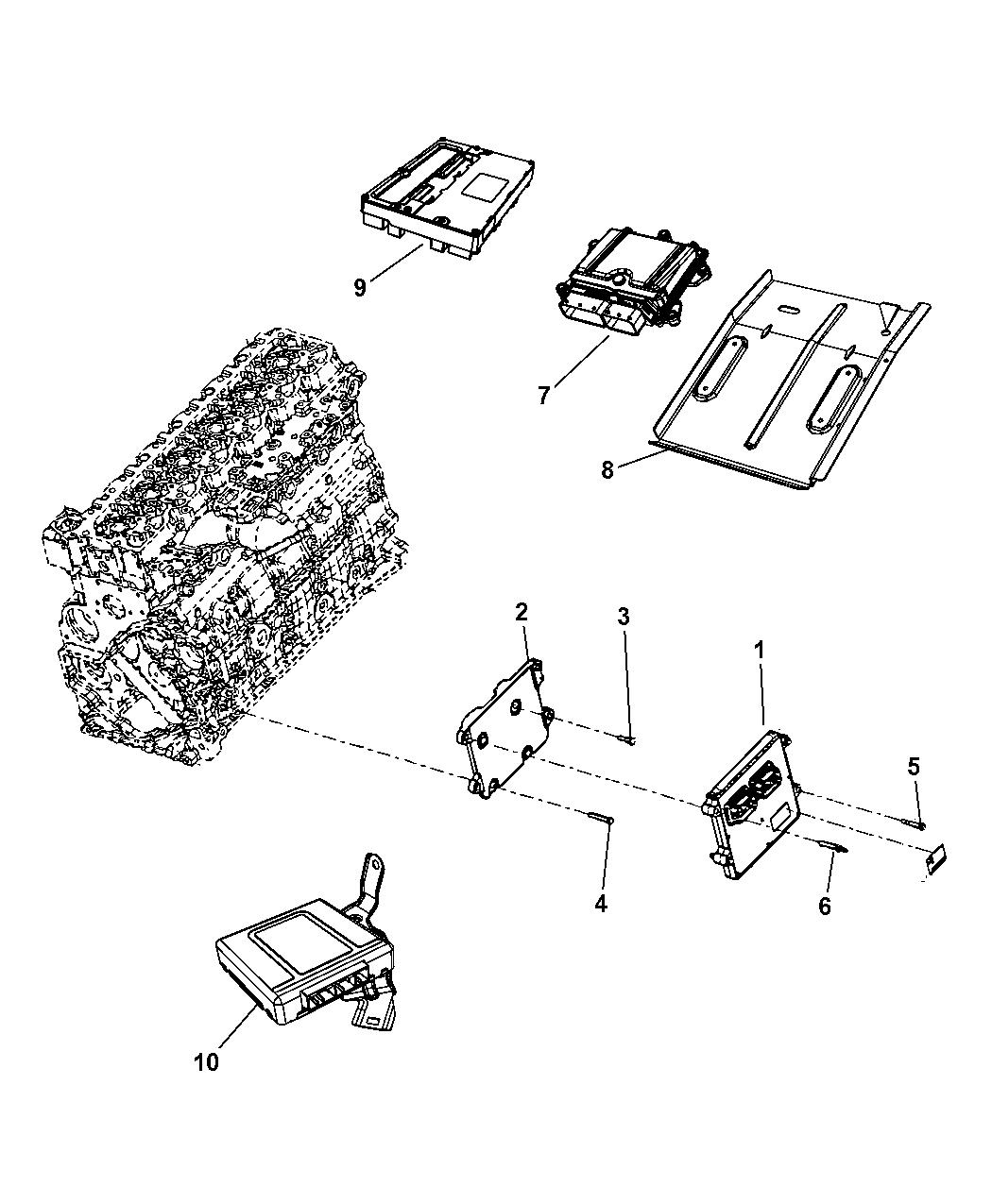 Ram Module Engine Controller 68089741aa