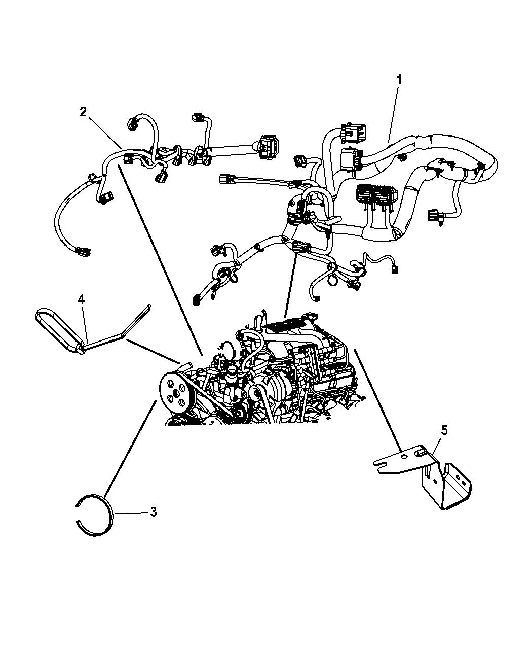 4801901AB - Genuine Mopar WIRING-ENGINE