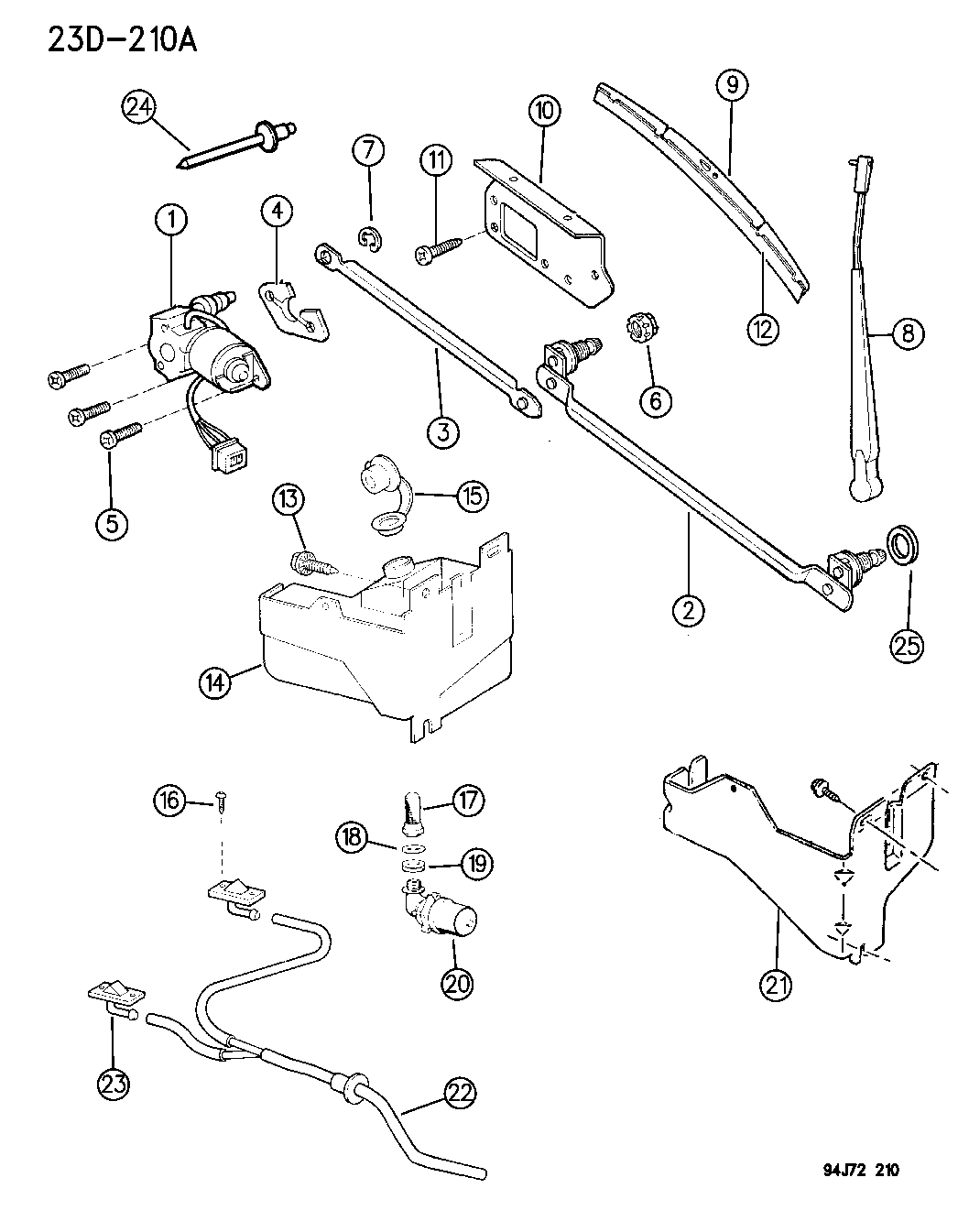 1995 Jeep Wrangler Windshield Wiper Washer Mopar Parts Giant 95 Engine Schematics