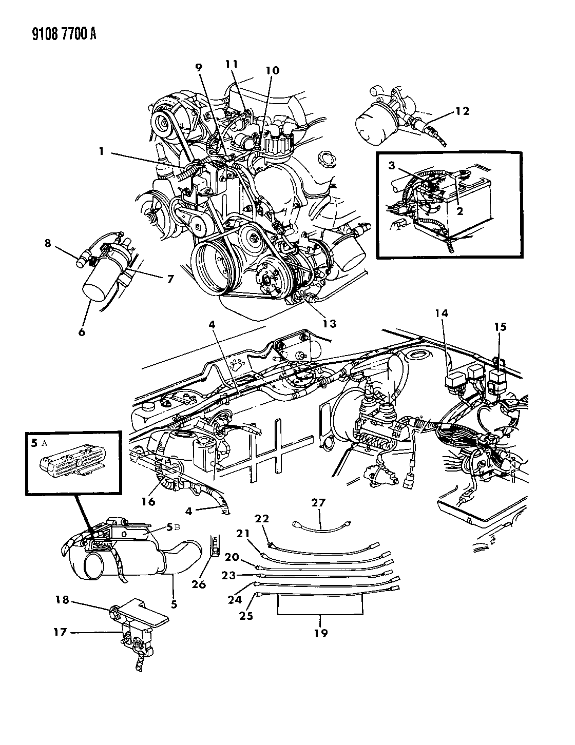 Dodge Dynasty Fuse Diagram Wiring Library 1991 Daytona Within 1989 Engine Front End Related Parts
