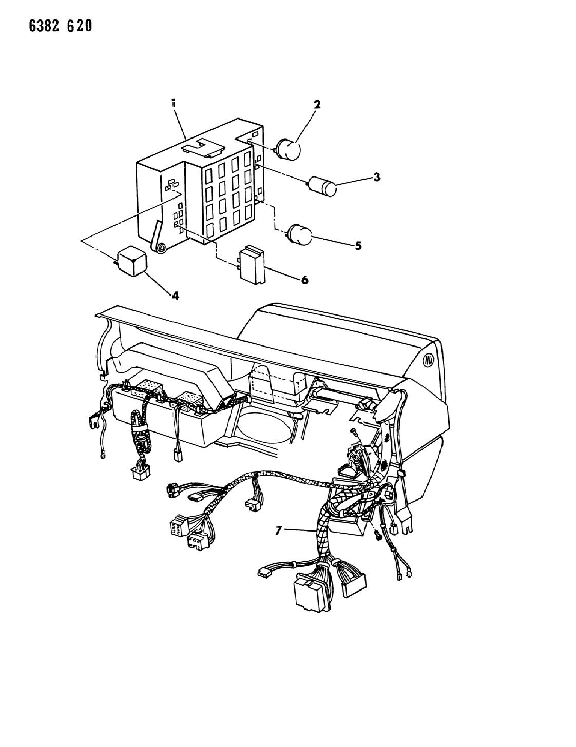 1987 Dodge Dakota Instrument Panel Wiring Mopar Parts Giant Diagram