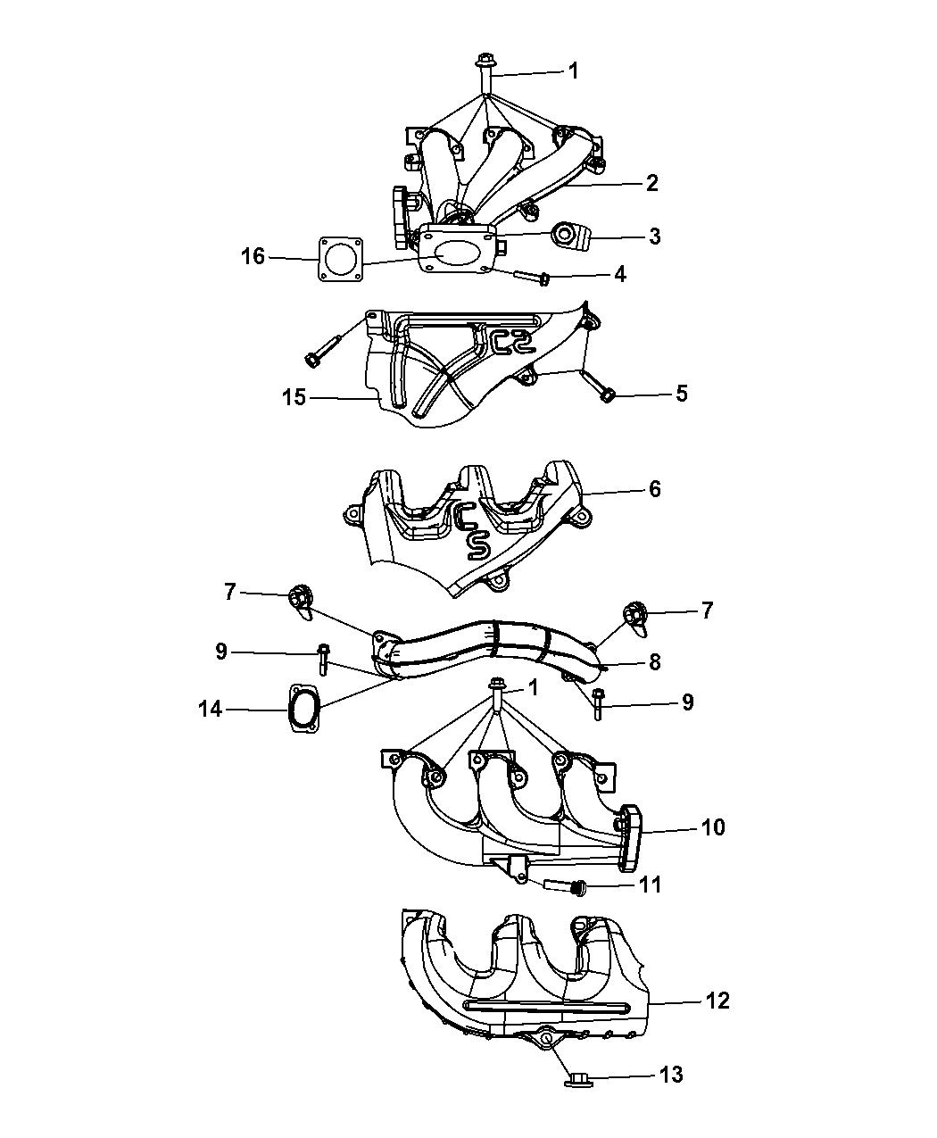 Genuine Chrysler 4648954AA Exhaust Manifold