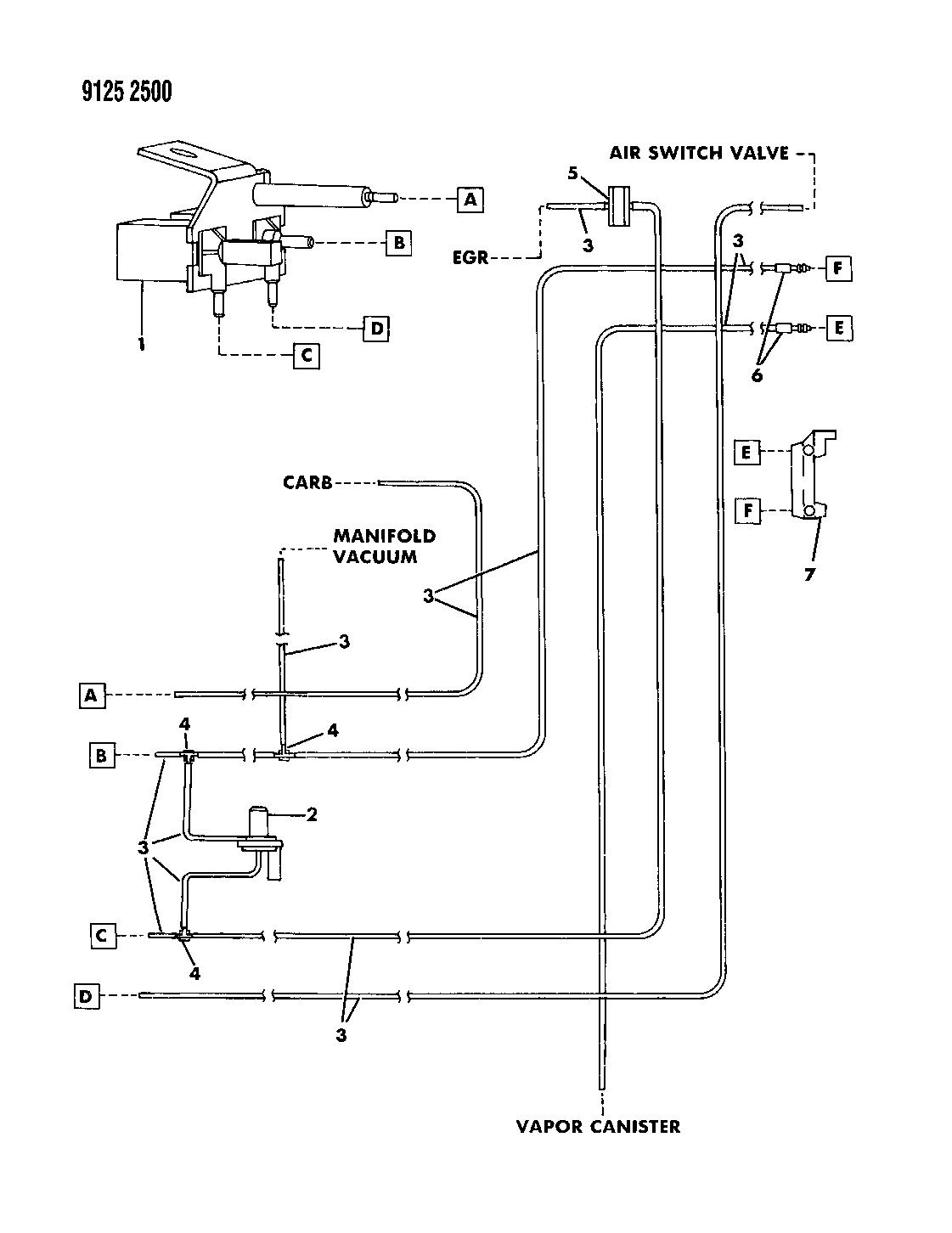 1989 chrysler tc maserati egr hose harness mopar parts giant rh moparpartsgiant com Wiring-Diagram 2000 Chrysler Voyager Chrysler Ignition Wiring Diagram