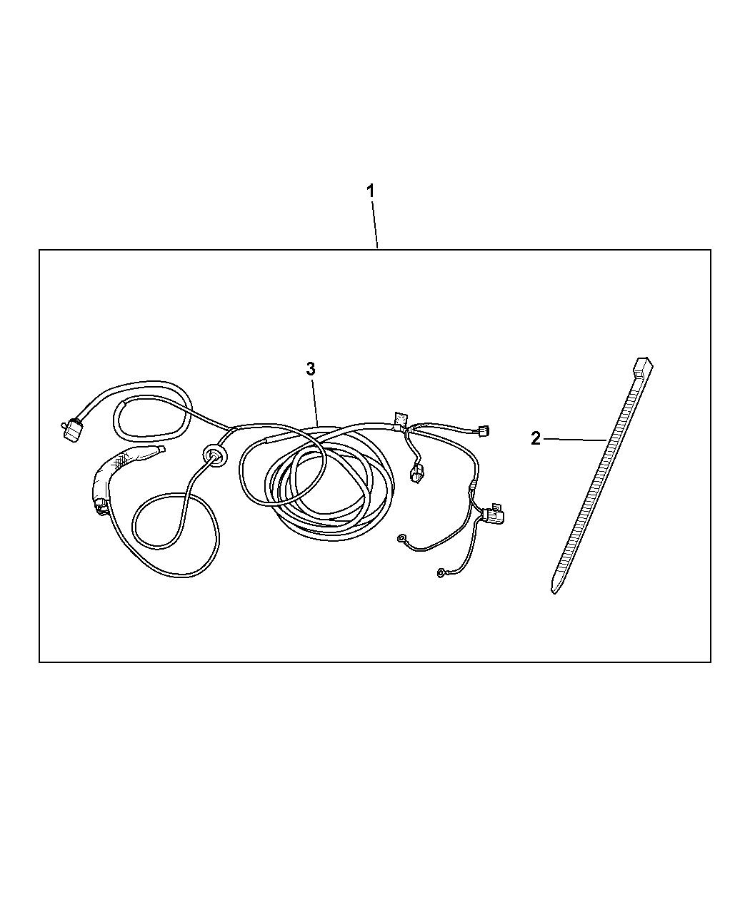 82209280ad - Genuine Mopar Wiring Kit-trailer Tow