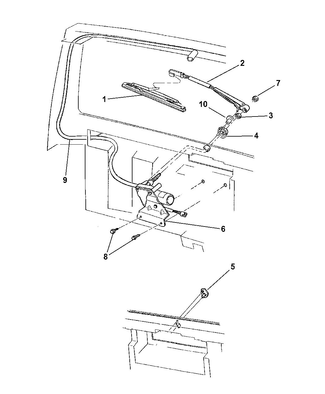 1998 Jeep Cherokee Rear Wiper & Washer - Mopar Parts Giant