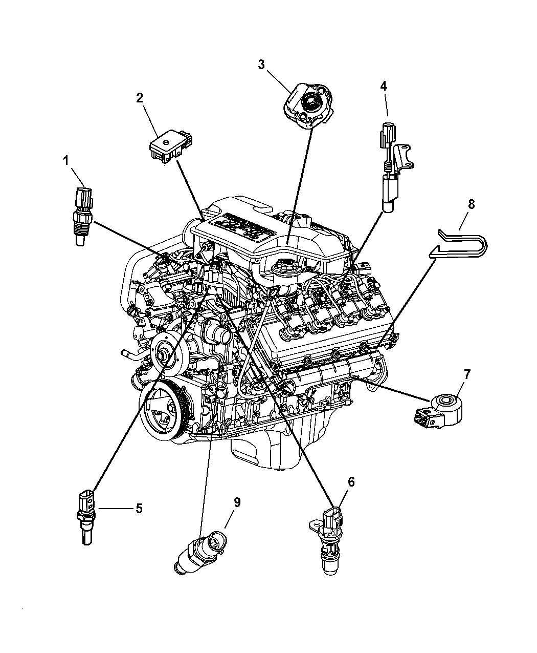 2008 Chrysler Aspen Sensors - Engine - Thumbnail 1