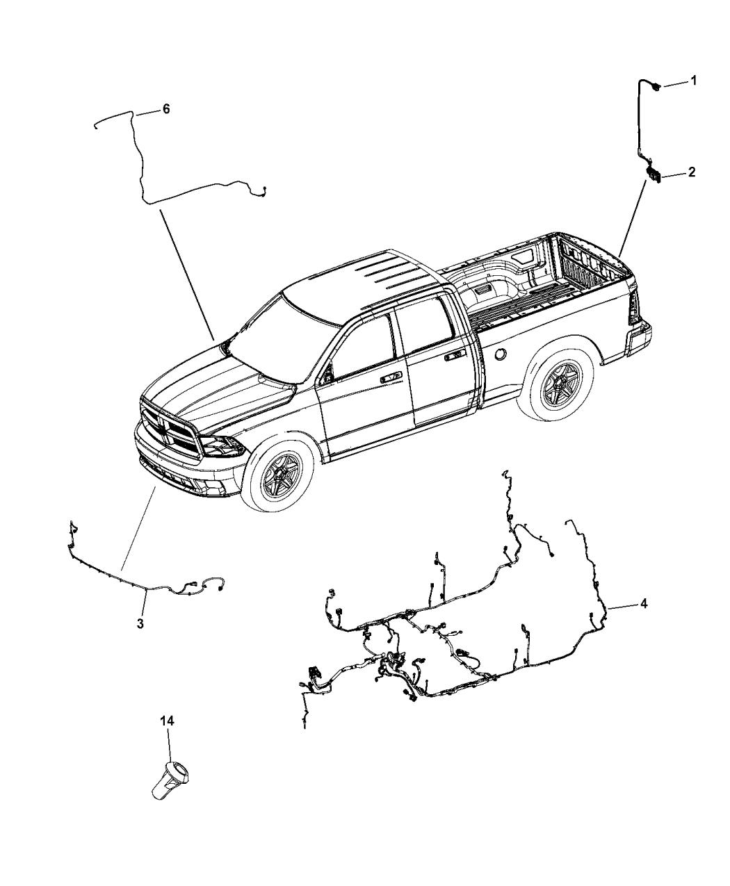 2015 Ram 1500 Wiring - Body