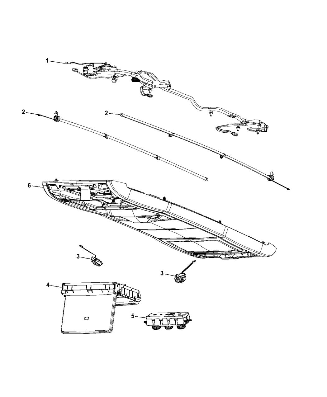 2014 Dodge Grand Caravan Console Single Video Monitor Long Overhead Wiring Diagram