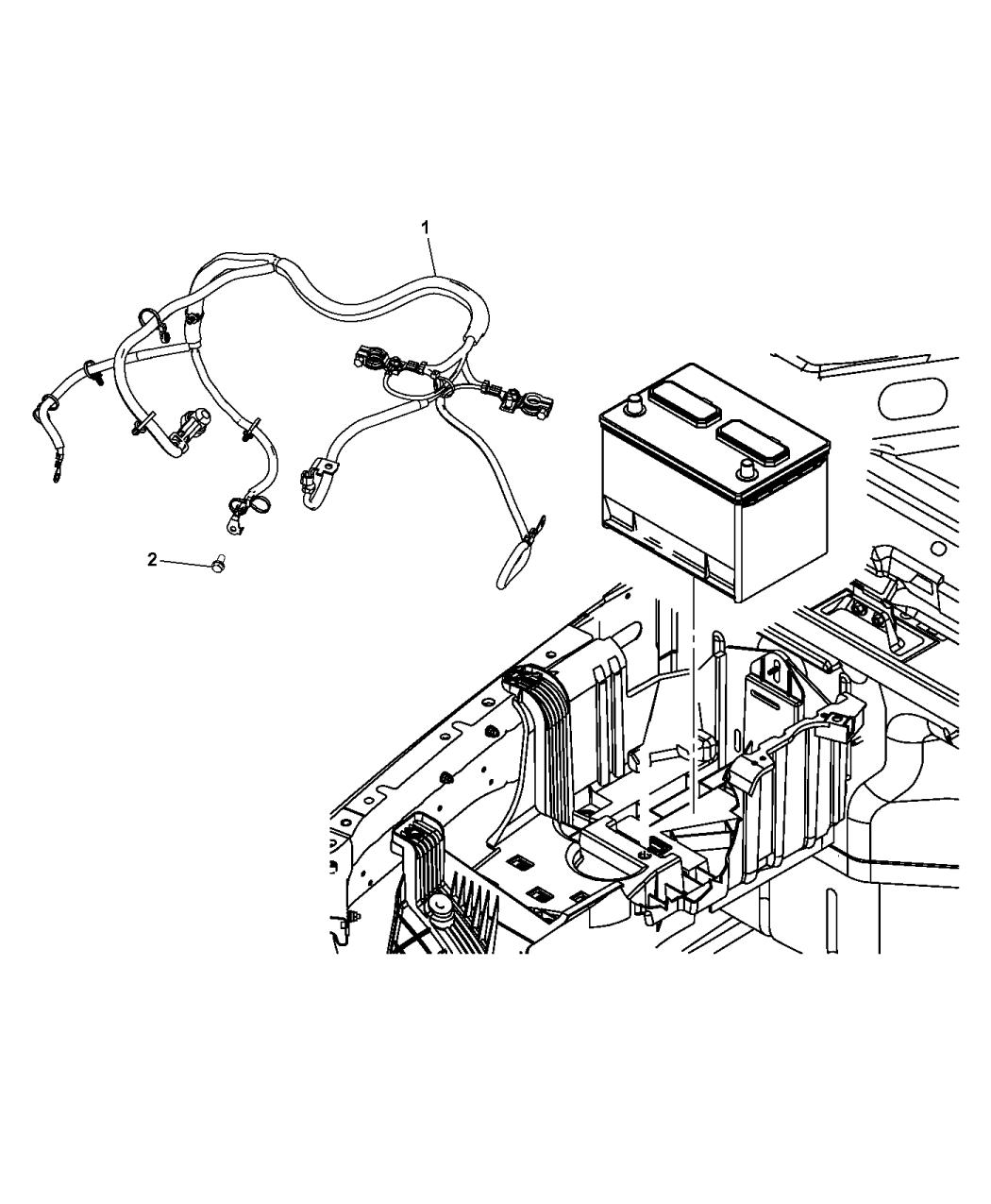 2015 Jeep Wrangler Battery Wiring - Mopar Parts Giant