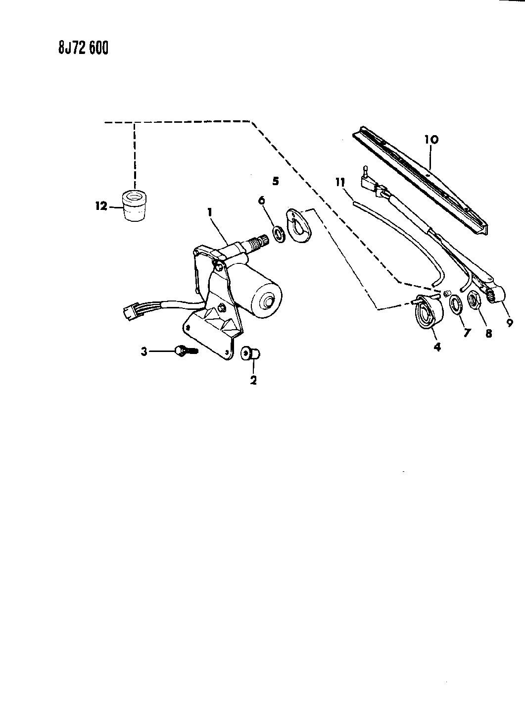 1988 jeep cherokee wiper, liftgate