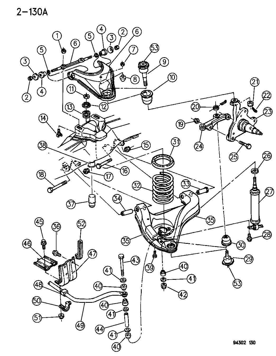 1995 Dodge Dakota Suspension