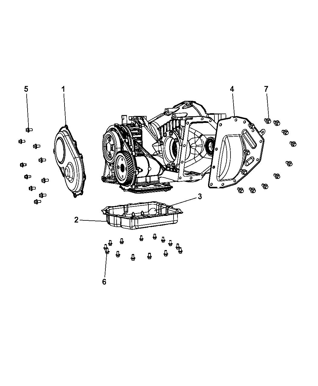 5078525ab genuine mopar pan transaxle differential oil