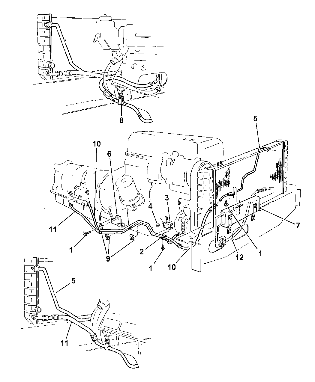 1997 Jeep Cherokee Transmission Oil Cooler Lines Schematic Thumbnail 1