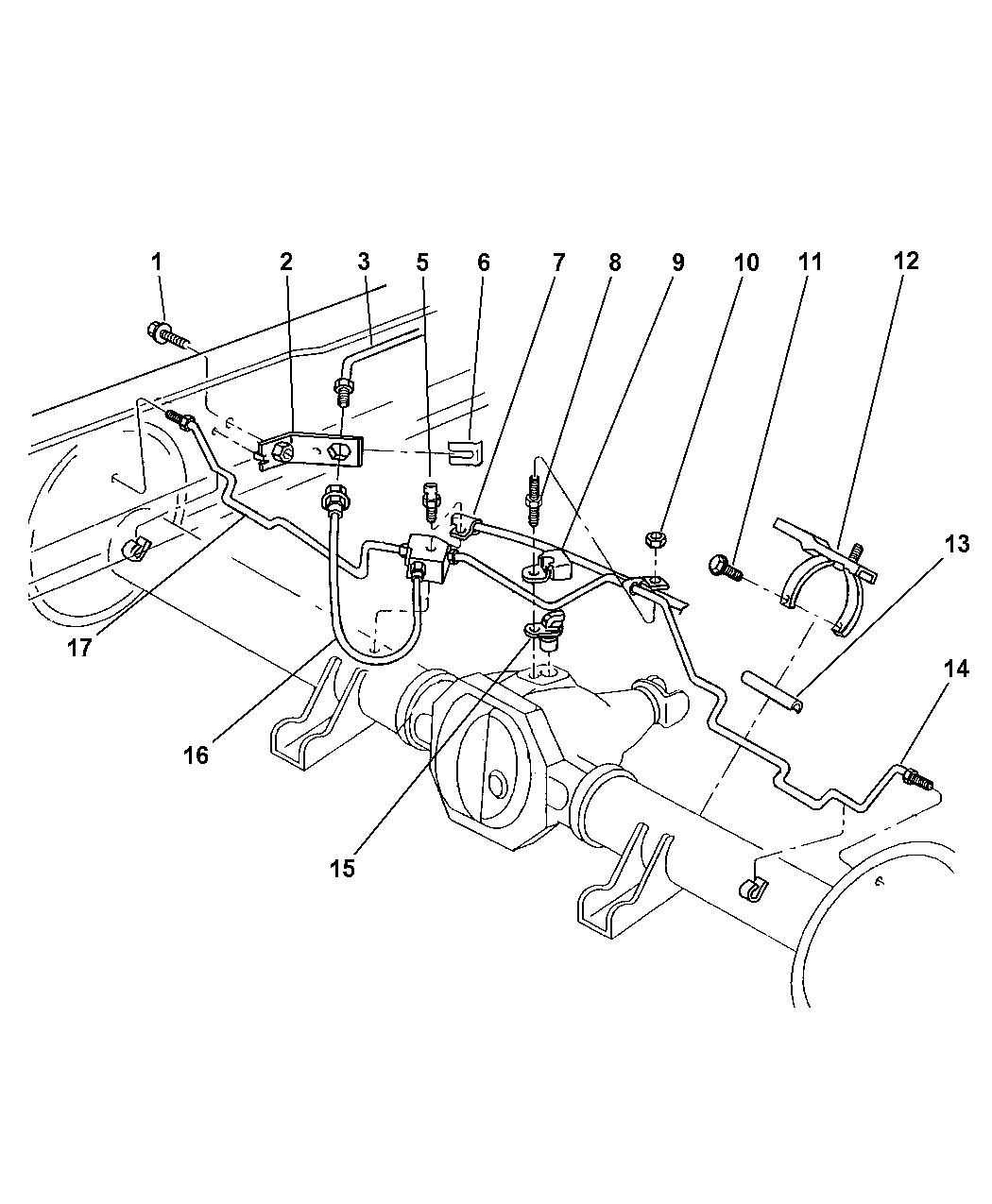 1997 Dodge Ram 2500 Lines & Hoses, Brake, Rear