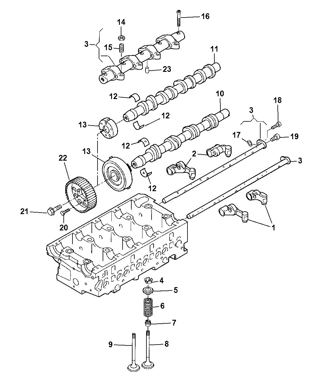 2009 Dodge Journey Camshaft Valvetrain Mopar Parts Giant Sxt Engine Diagram Thumbnail 1