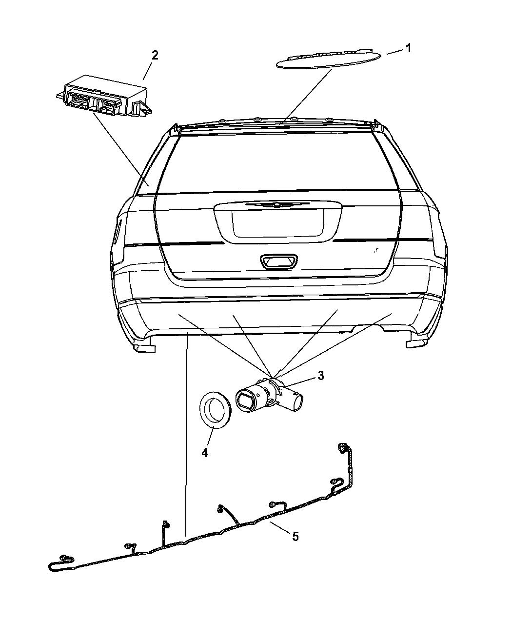 5026154AB - Genuine Chrysler MODULE-PARKING ASSIST