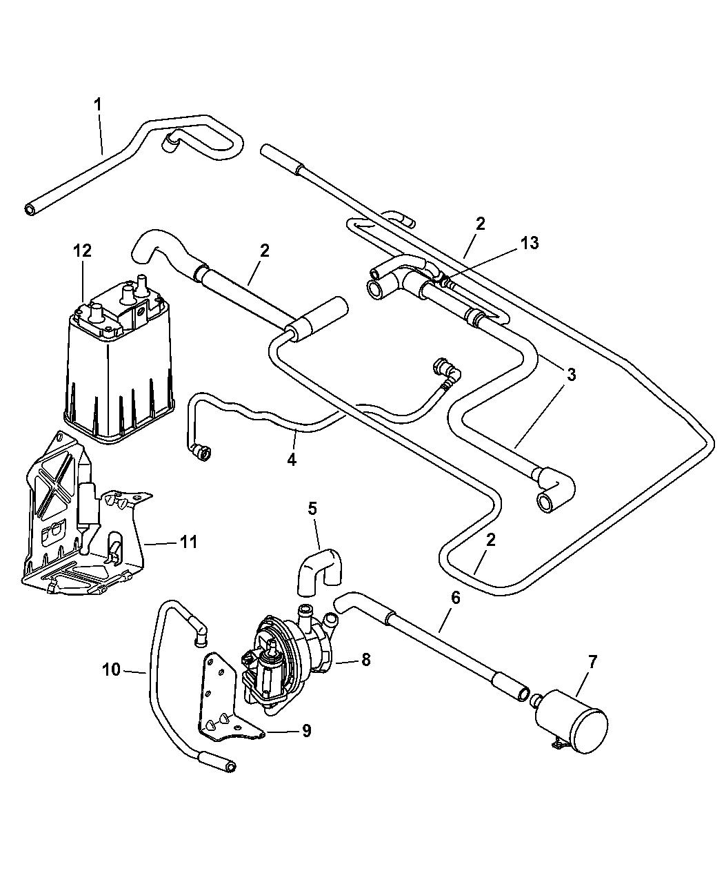 2003 Chrysler Pt Cruiser Vapor Canister Leak Detection Pump 2 4 Turbo Engine Wiring Diagram