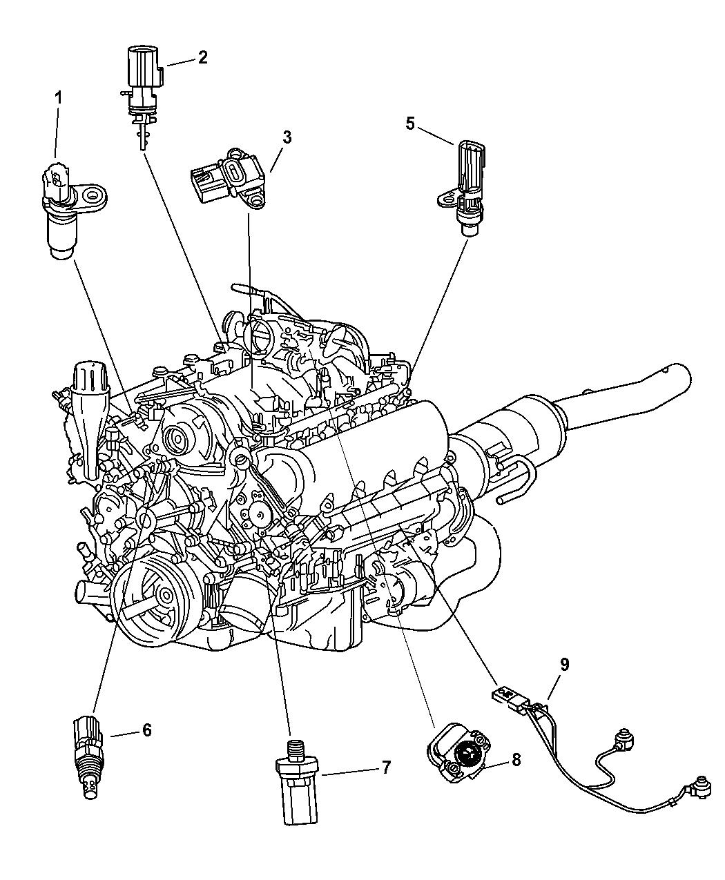 2004 dodge durango sensors engine mopar parts giant 2004 dodge durango 4.7 engine diagram 2004 dodge durango engine diagram #2