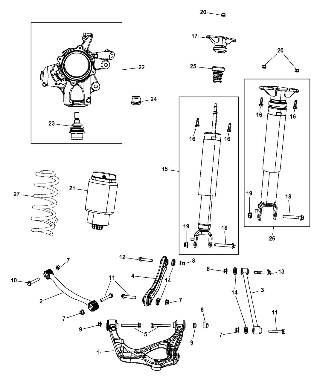 jeep wk suspension diagram