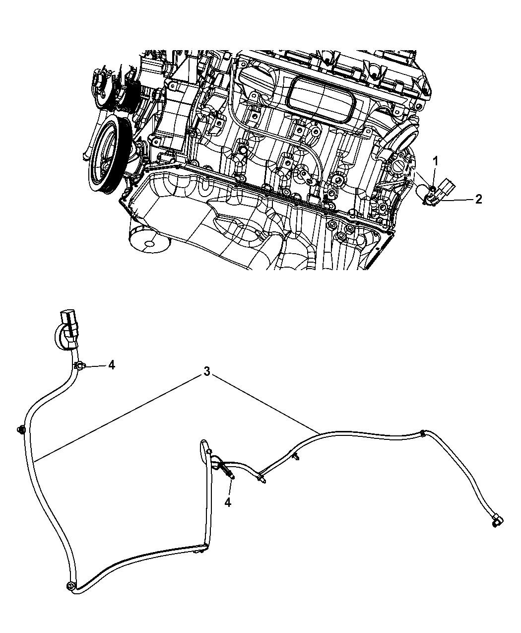 2010 dodge ram 1500 engine cylinder block heater - thumbnail 1