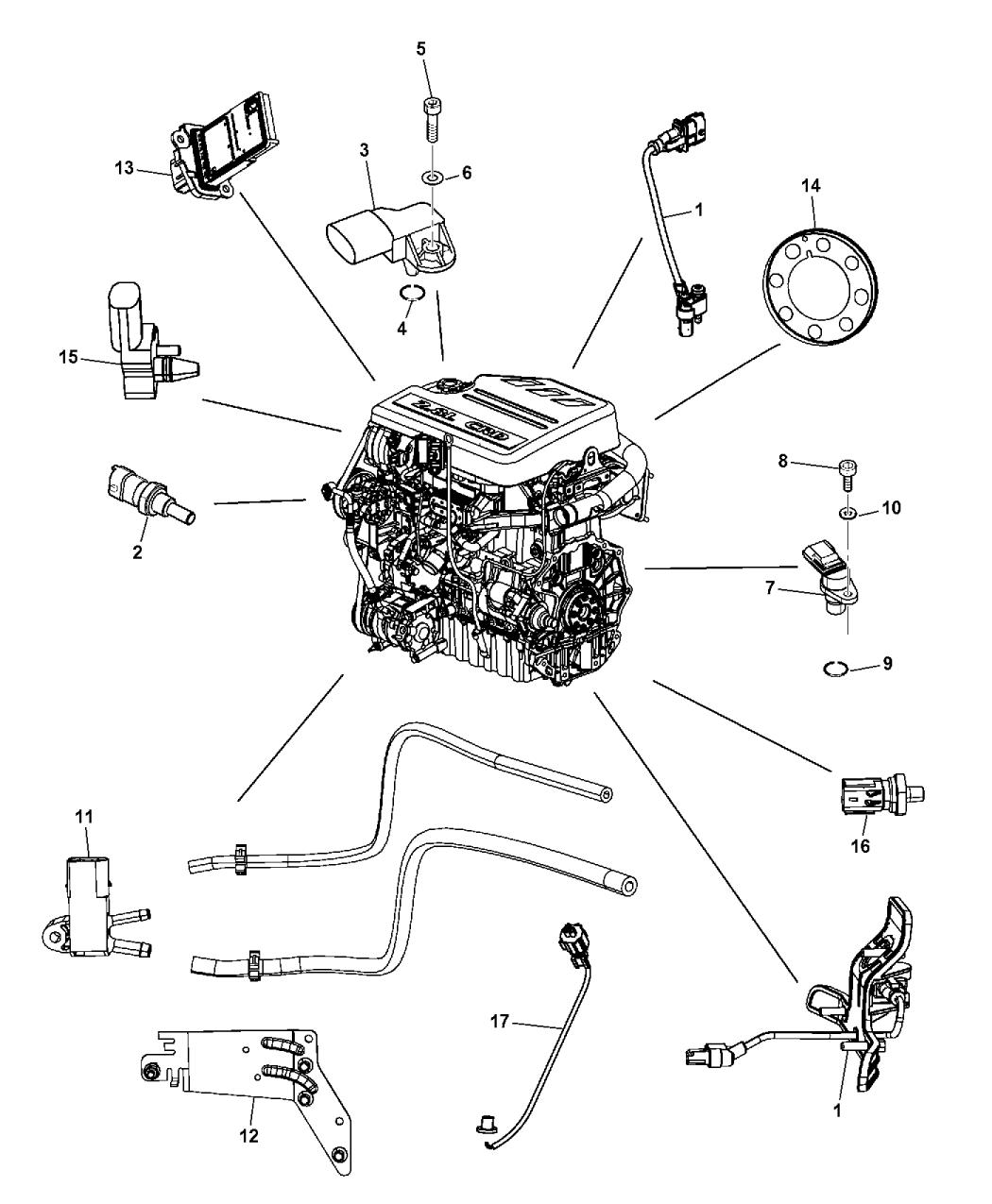 2014 Dodge Grand Caravan Sensors Mopar Parts Giant Wiring Diagram