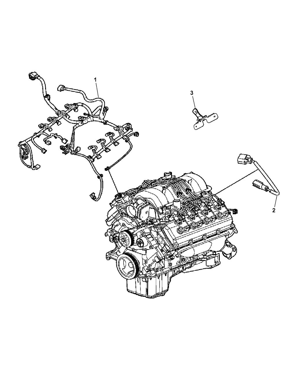 68160885AA - Genuine Ram WIRING-ENGINE AND TRANSMISSION