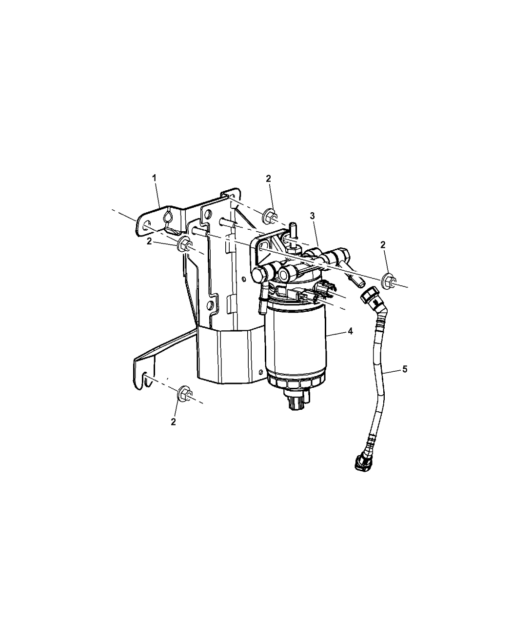 52125498AD  Genuine Mopar BRACKET   FUEL       FILTER