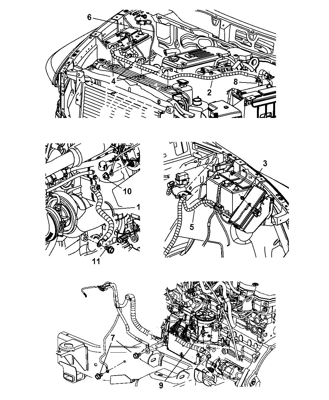 68004760AE - Genuine Mopar WIRING-BATTERY POSITIVE