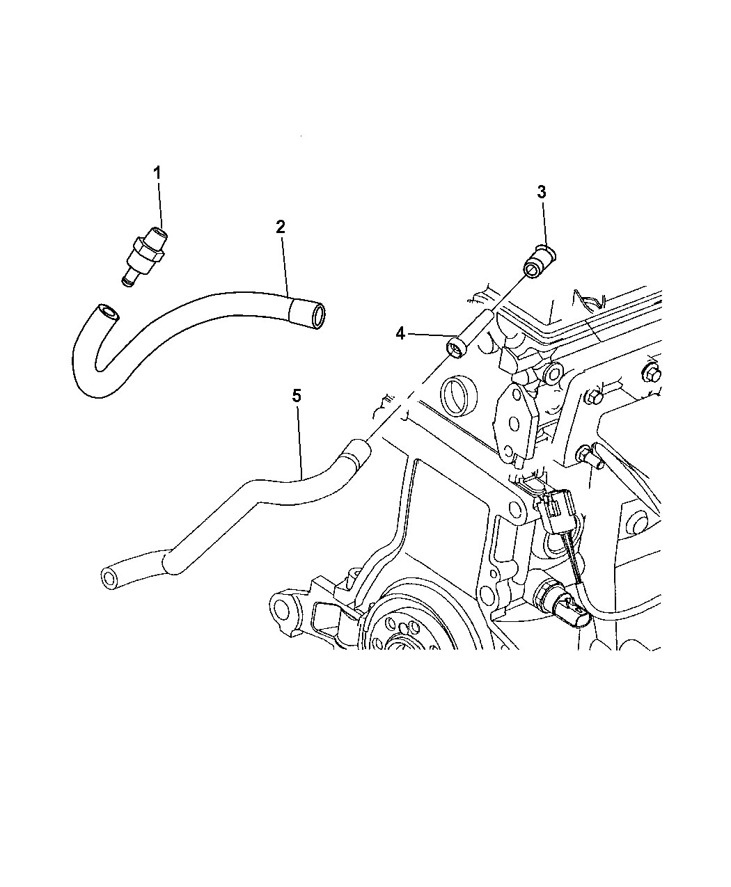 2008 Chrysler Pt Cruiser Crankcase Ventilation Engine Diagram Thumbnail 1