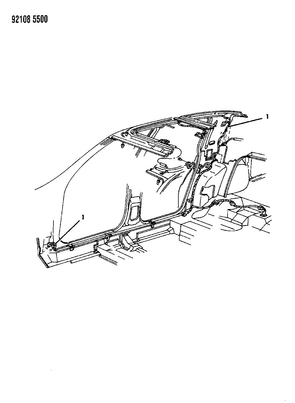 1992 Dodge Spirit Wiring - Body  U0026 Accessories