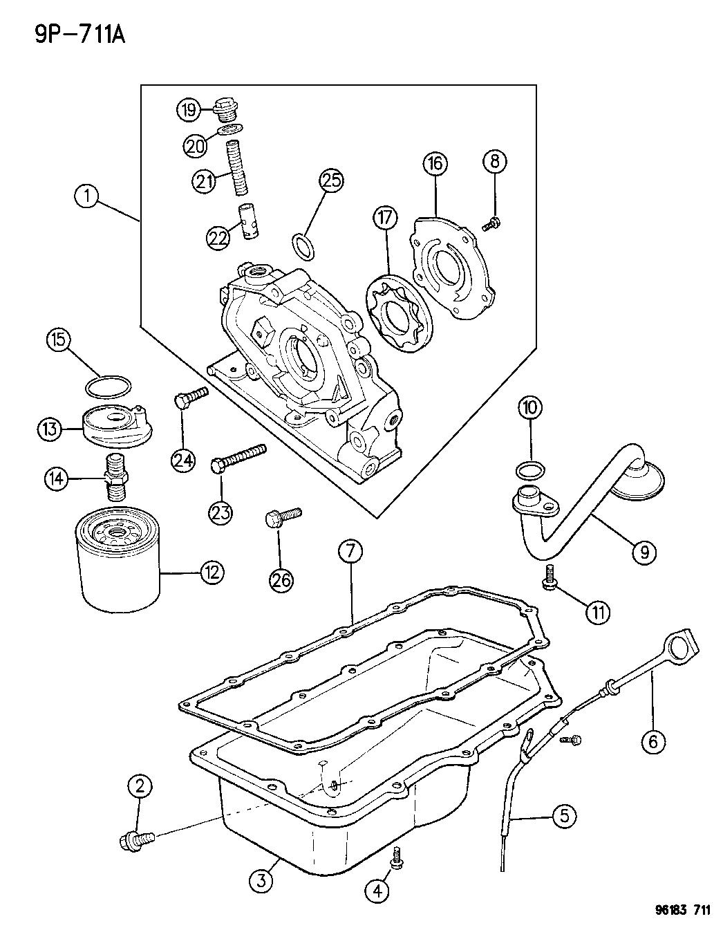 1996 Chrysler Cirrus Engine Oiling