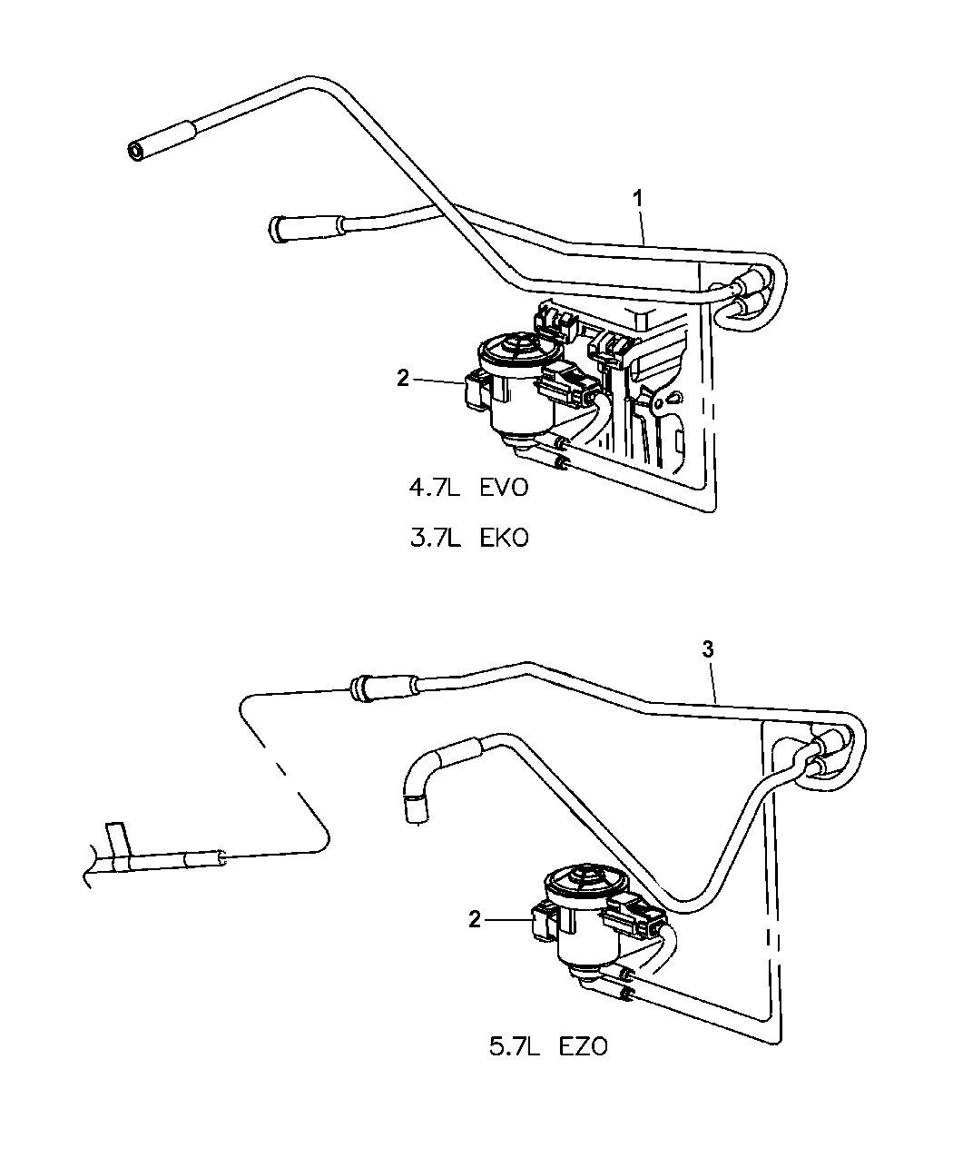 2005 Jeep Grand Cherokee Emission Control Vacuum Harness