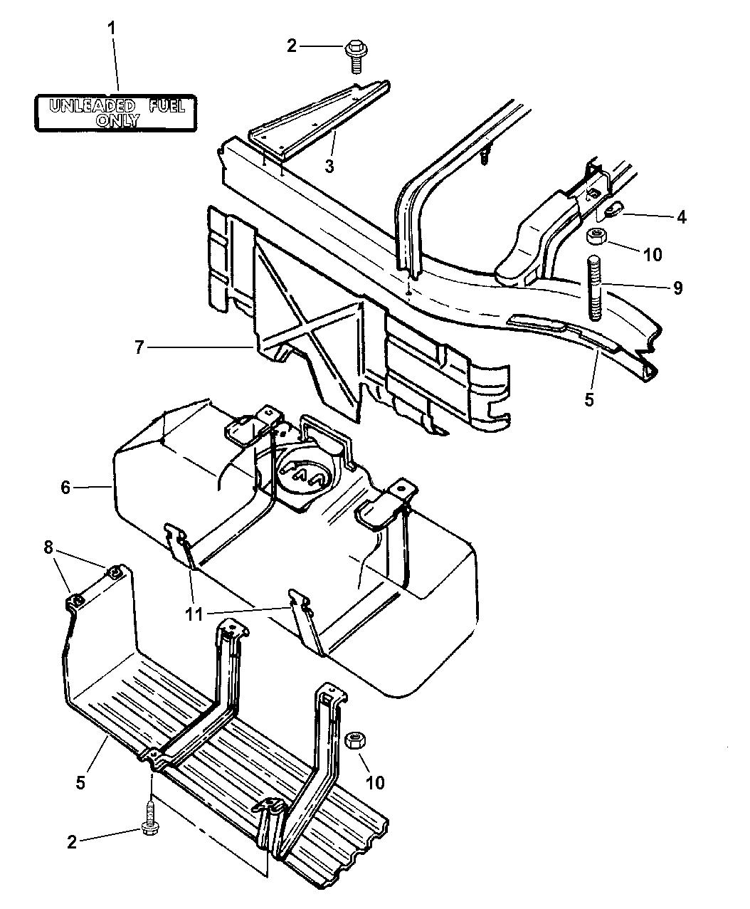 1998 Dodge Dakota Fuel Tank