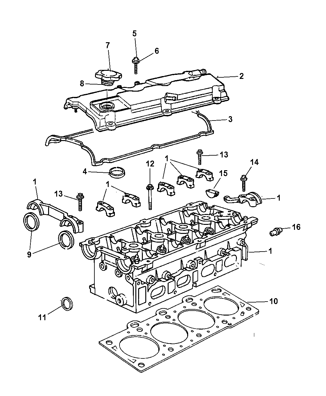 2008 chrysler pt cruiser cylinder head \u0026 cover 2008 Lincoln MKX Engine Diagram