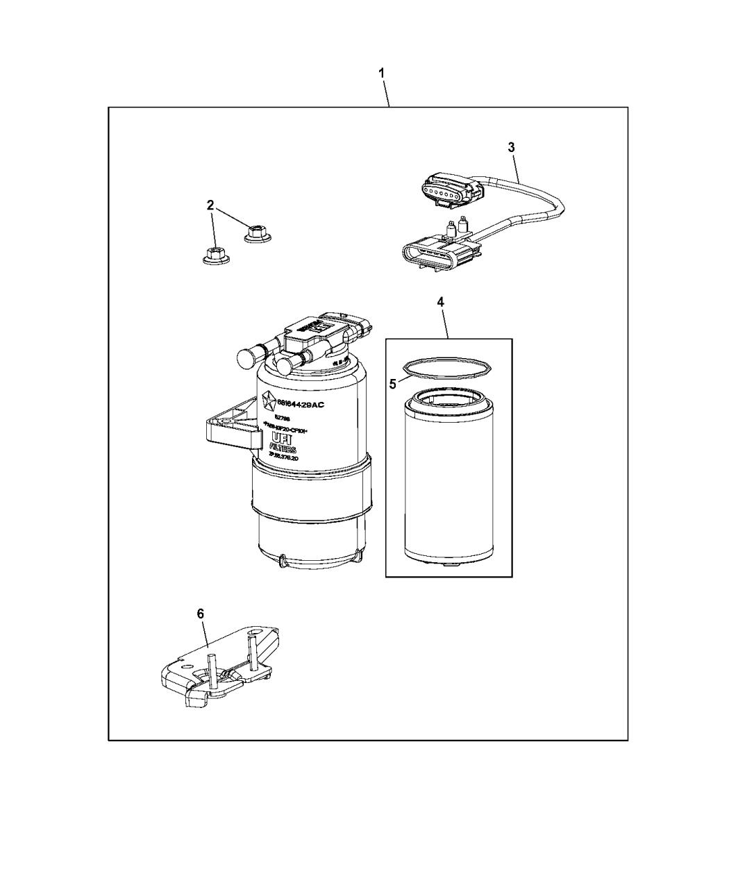 2014 Ram 1500 Fuel Filter Amp Water Separator Mopar Parts